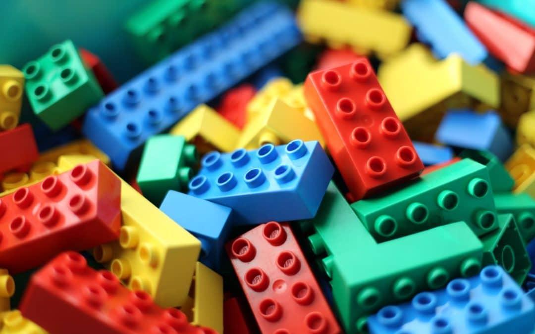 Construction en Lego : lego de couleur en vrac