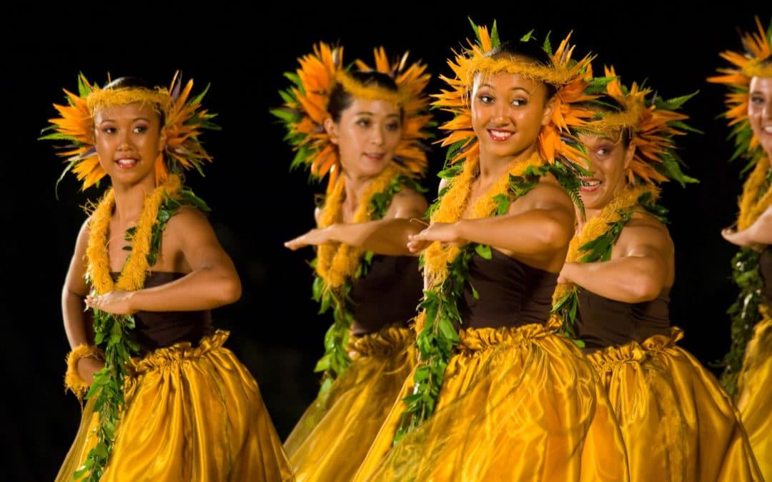 Danse hawaïenne : danseuses hawaïennes